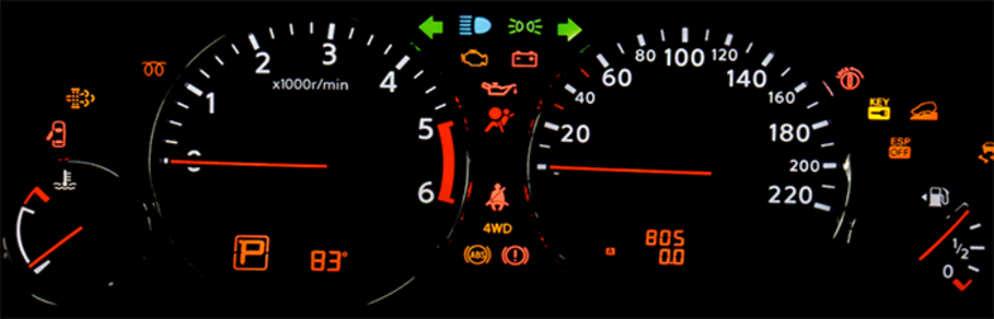 Dashboard Warnings and Indicator