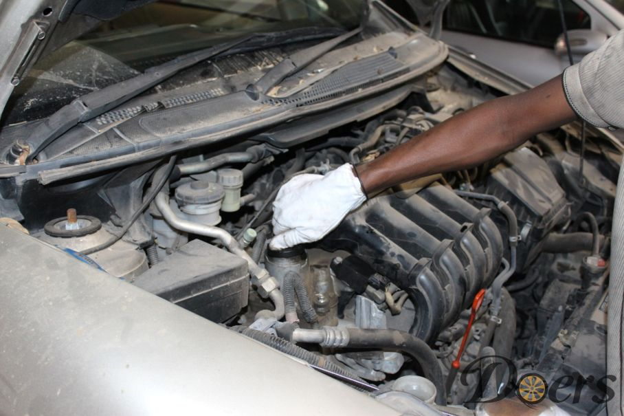 Step number 12 image for Engine Oil Change or Check Oil Level and Condition