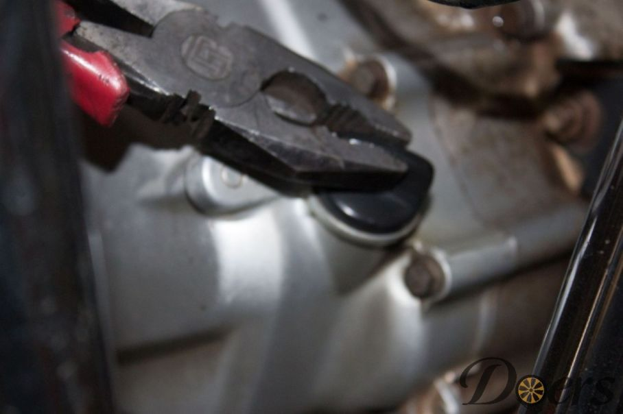 Step number 14 image for Engine Oil Change or Check Oil Level and Condition