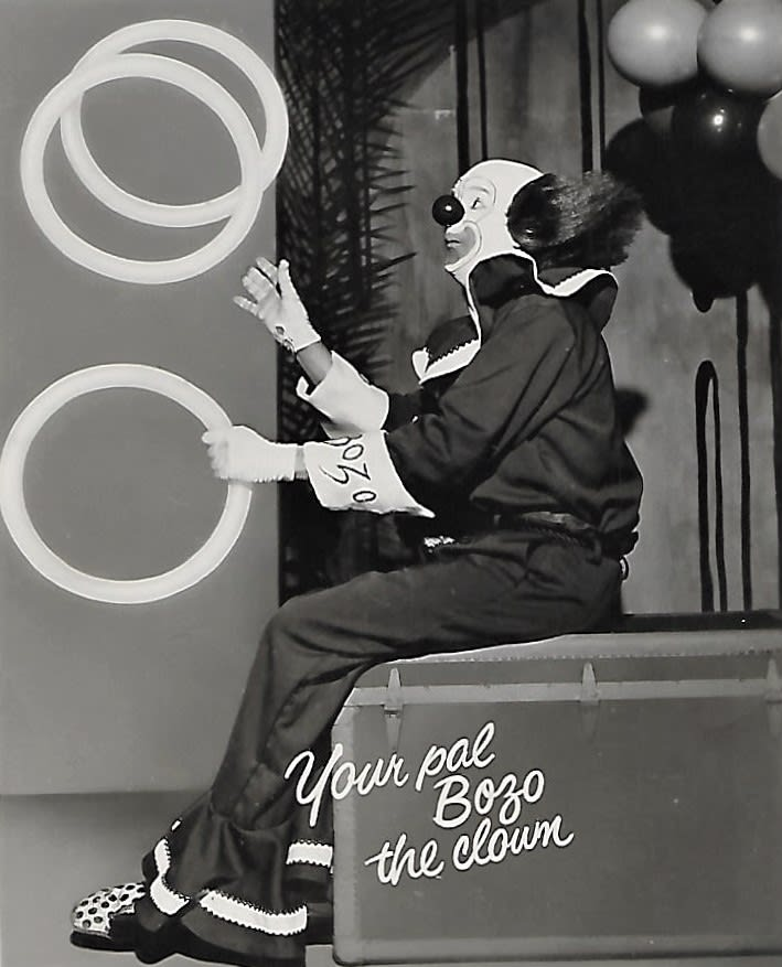 Bob McNea, Bozo the Clown autograph card 1960