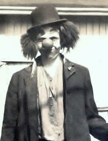 Bob McNea's first clown character 1942