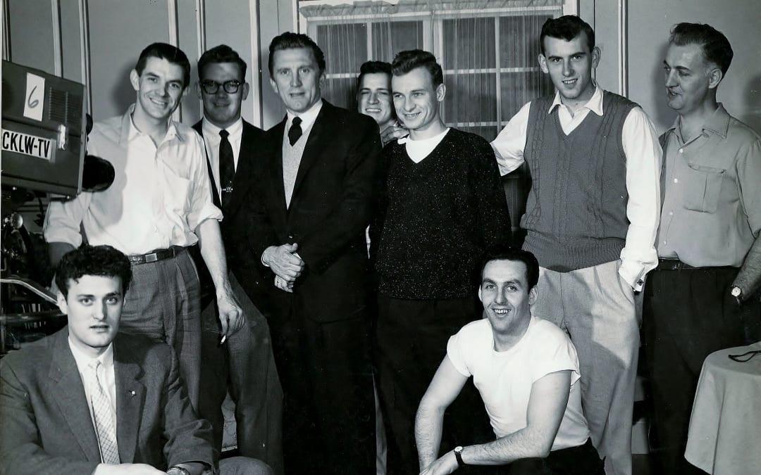 Bob McNea, Kirk Douglas, CKLW crew 1959