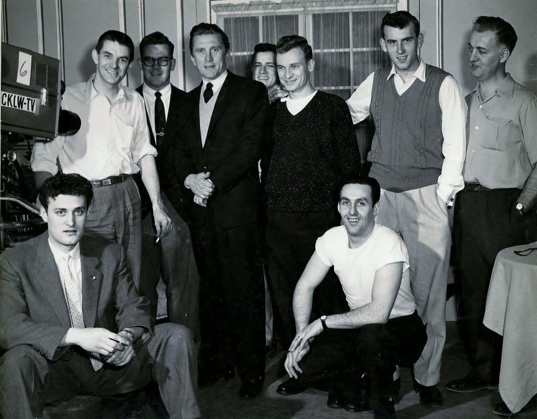 Bob McNea and Kirk Douglas