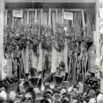 Butcher shop window