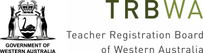 The emblem of the Government of Western Australia, and logo for the Teacher Registration Board of Western Australia