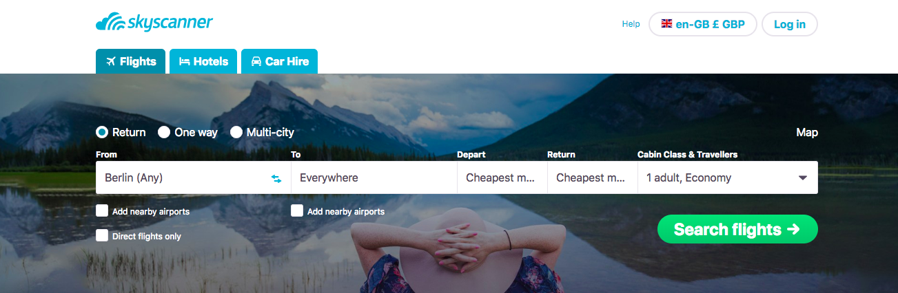 The ultimate way to search Skyscanner