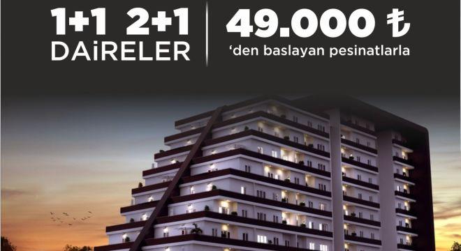 1+1,2+1 LÜKS PROJEMİZ 49.000 TL DEN BAŞLAYAN PEŞİNATLARLA