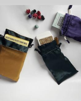 pouch tarot satin dua warna
