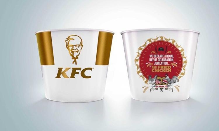 KFC releases 'embellished' bucket for royal wedding