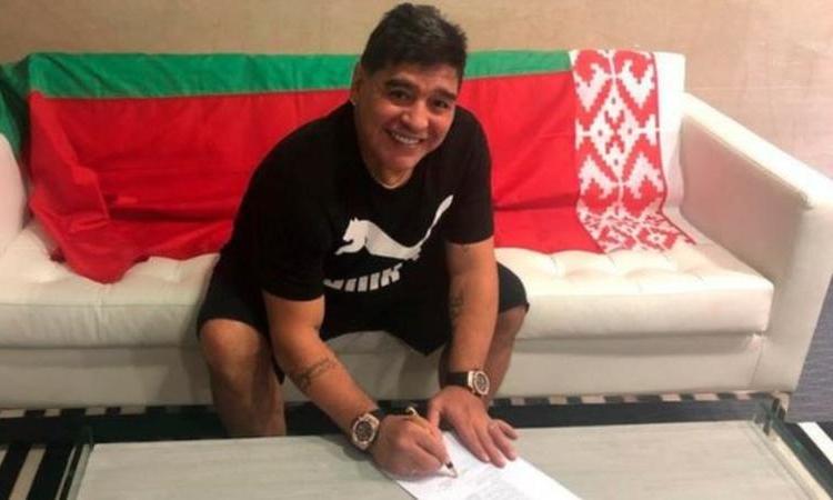 Diego Maradona: Dinamo Brest appoint Argentina legend as chairman
