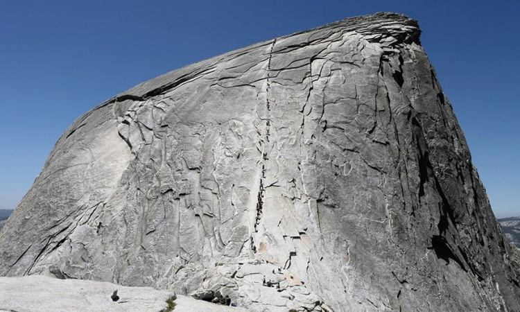 Hiker dies after slipping, falling from Yosemite's Half Dome cables, park officials say