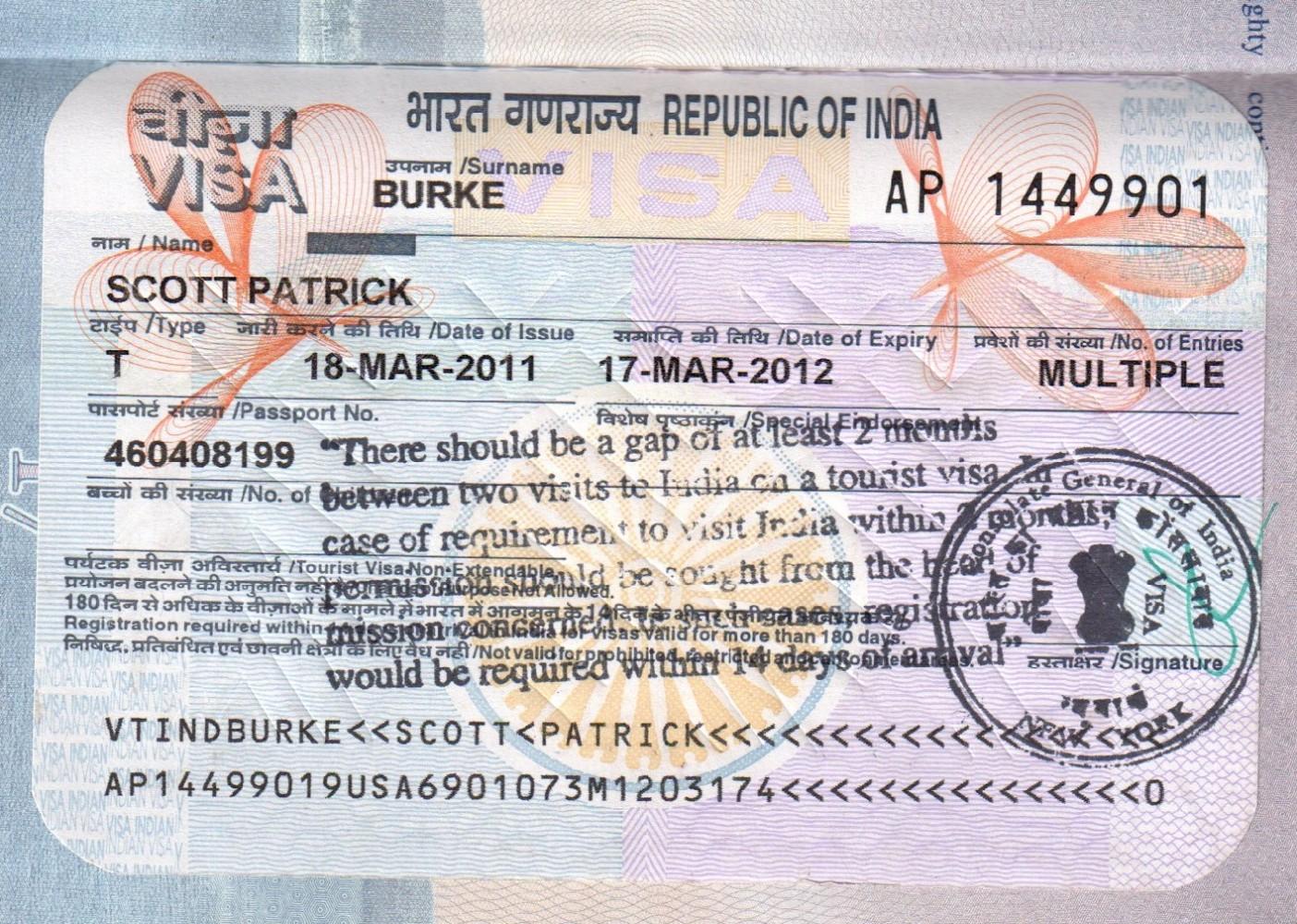 Можно ли оформить визу в Индию на 6 месяцев?