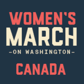 Women's March on Washington Canada logo.