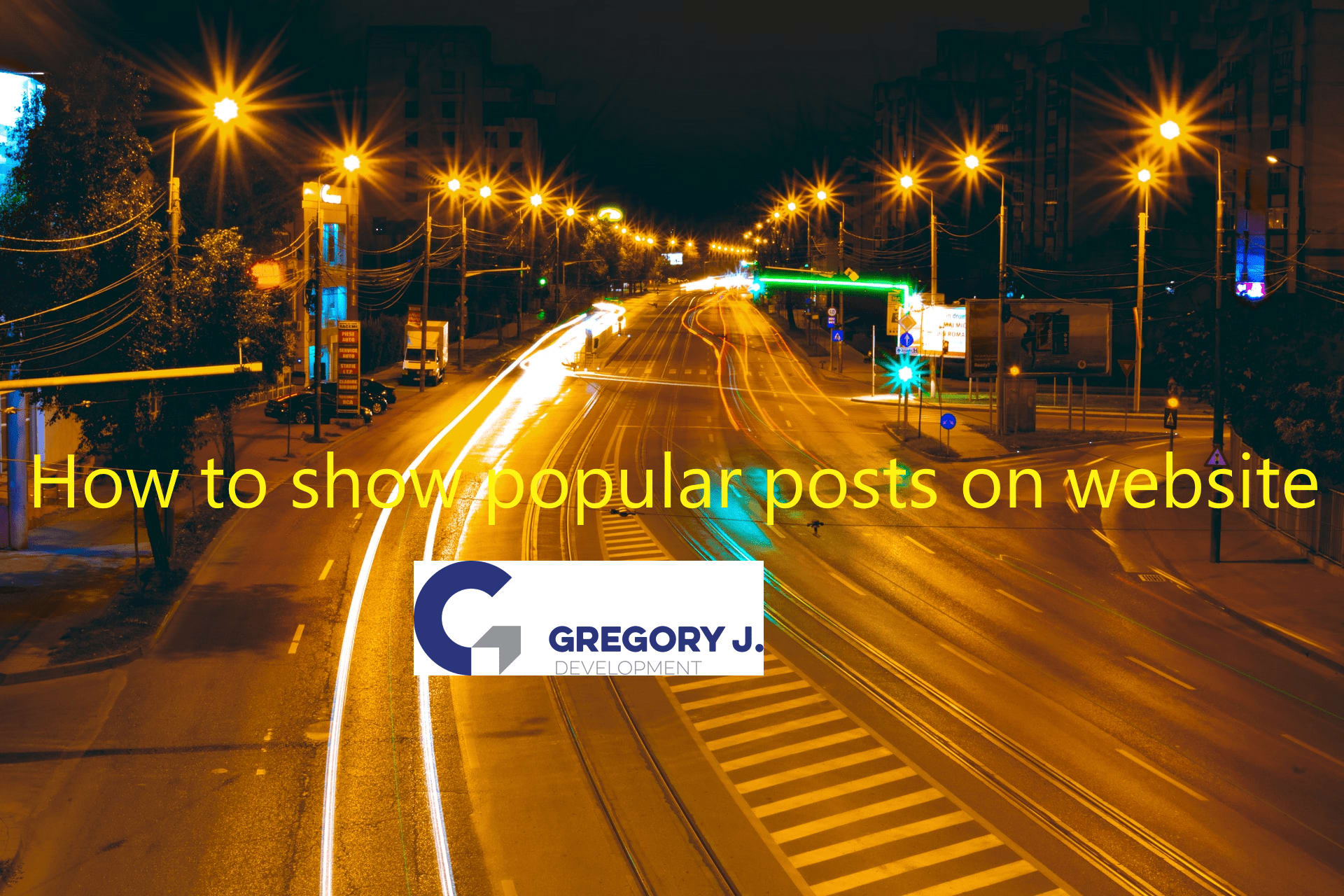 How to show popular posts on website