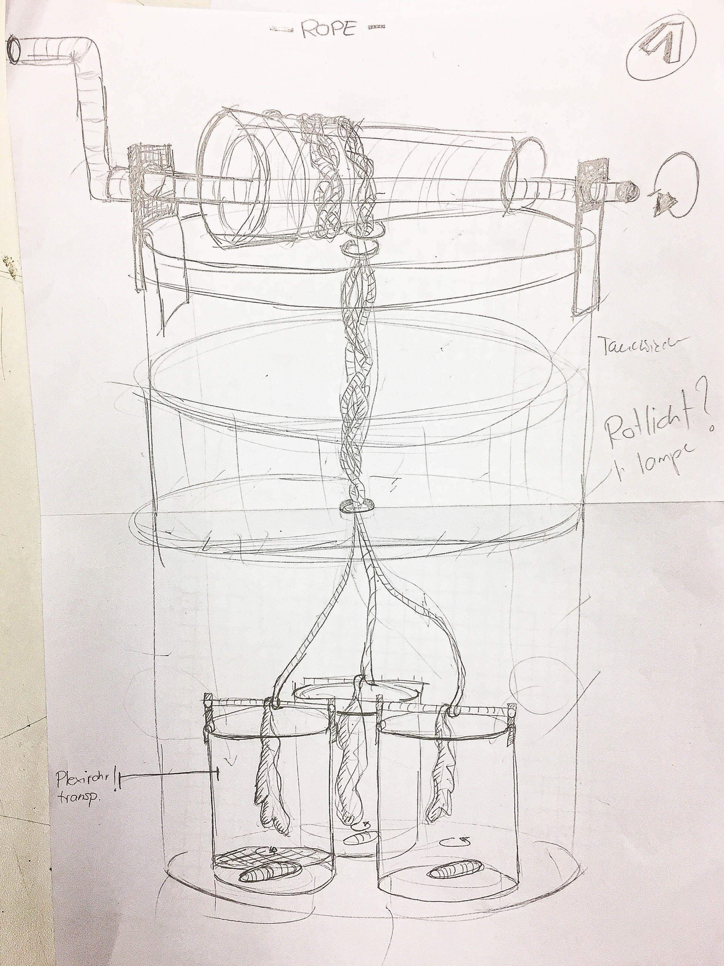 First Vortex prototyping sketch