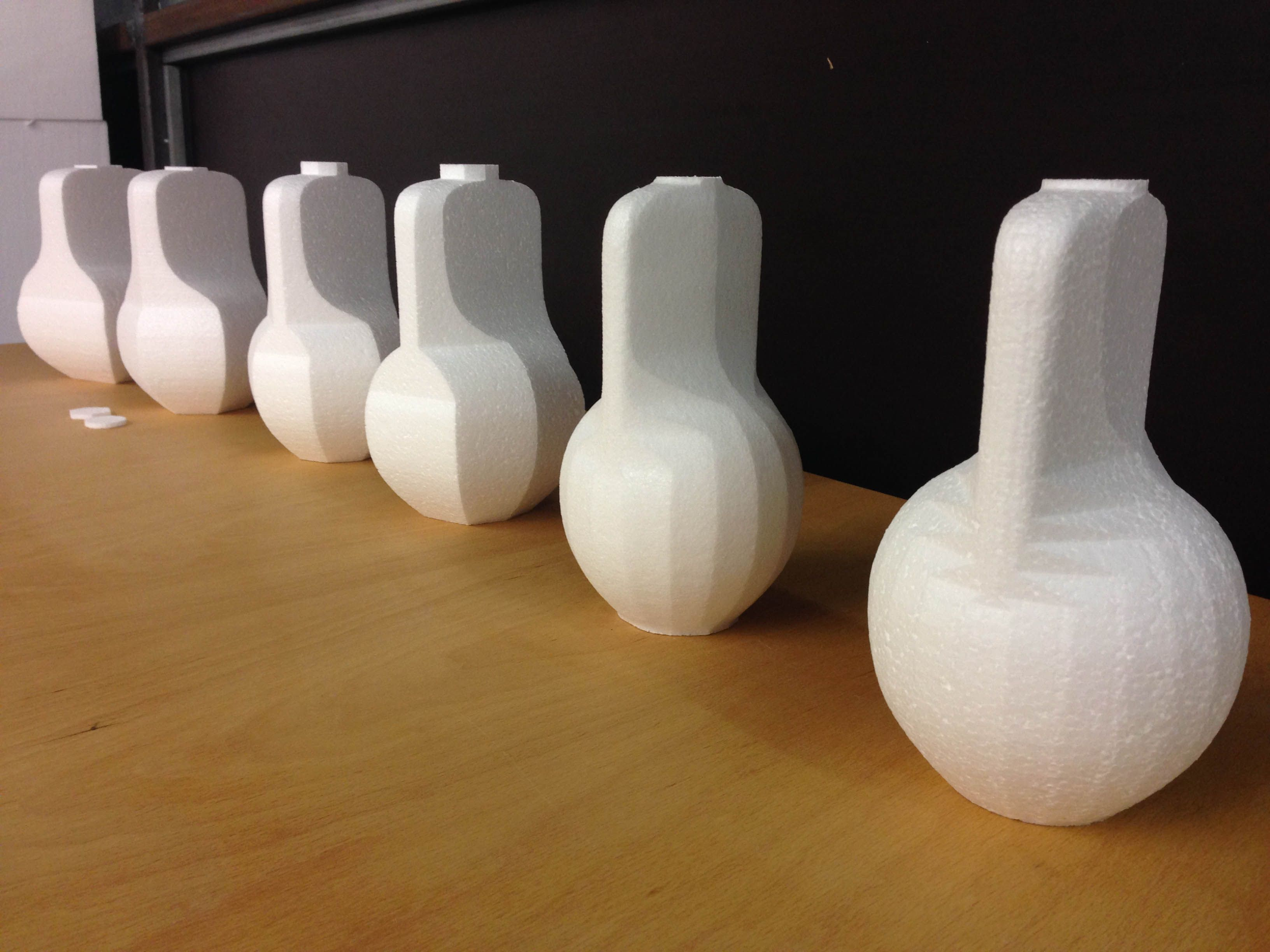 Row of aesthetic and parametric evolution