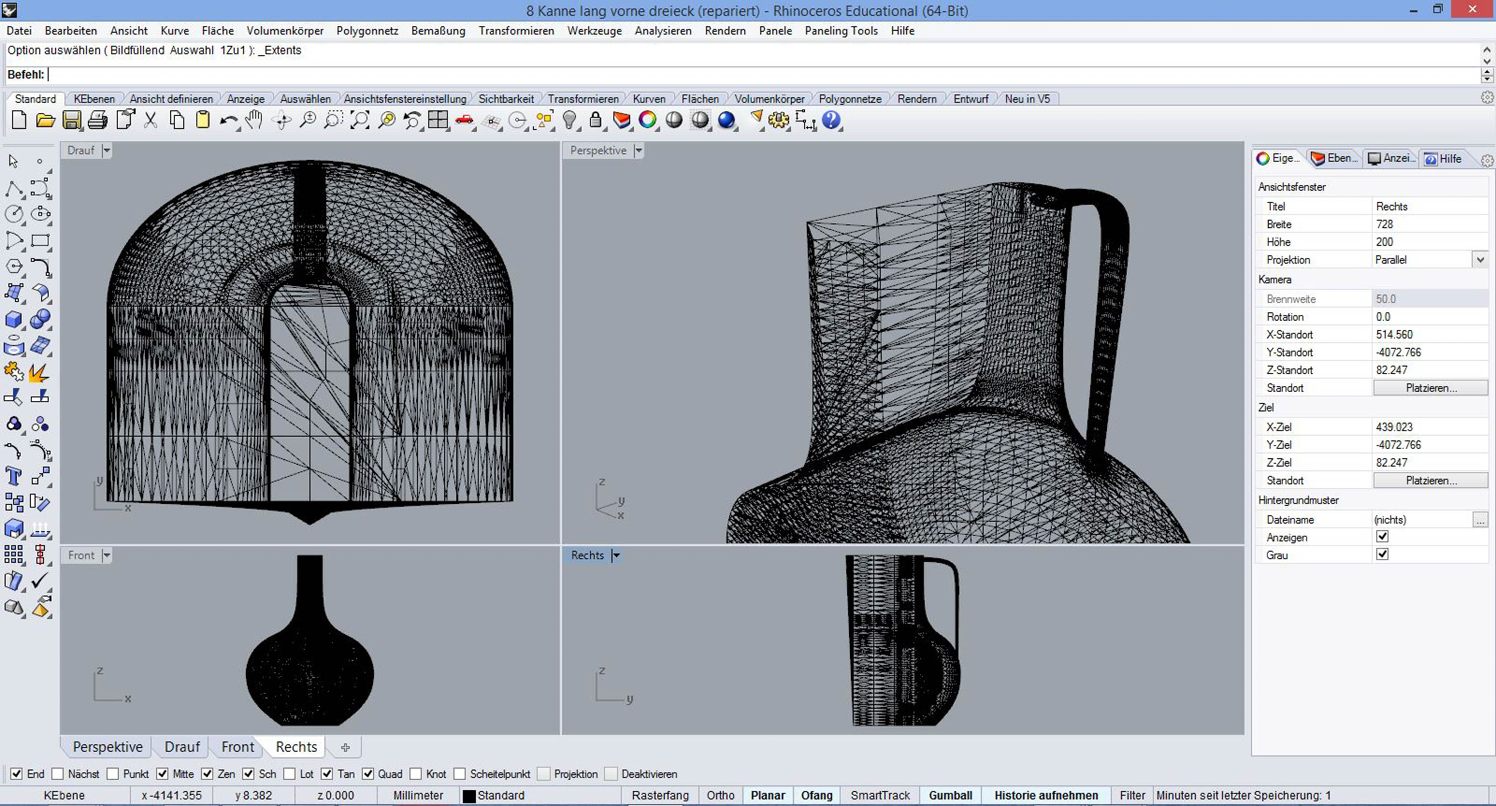 Iterated 3D model adapted to the technological limitations