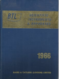 BTL Scientific instrumenst & apparatus 1966