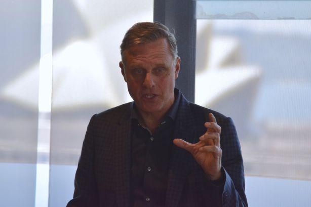 Architect and Grand Designs Australia host, Peter Maddison, speaking at the event.