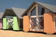 Pop-up houses assemble themselves in eight minutes