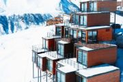 Shipping container ski resort is surprisingly spacious inside