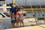 'Never a dull moment': The family living on a boat in the Mediterranean Sea