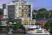 Open for inspection: The luxury New Farm penthouse with a boat pontoon