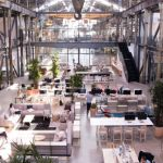 Tech company opens shoeless office in converted shipbuilding warehouse