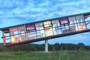 'Eccentric and extreme': The house that balances on a pole and rotates in the wind