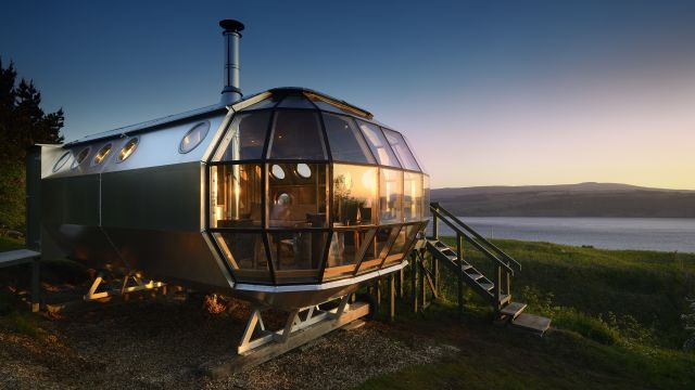 AirShip 002, the tiny 'pod' home in Scotland that you can rent on Airbnb