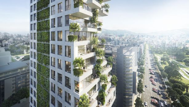Qorner tower in Quito by Safdie Architects NOT FOR REUSE