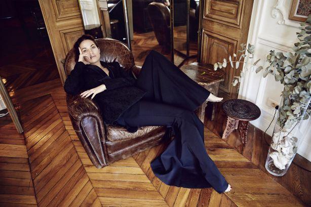 Kym Ellery in her Paris apartment. Photo: Jake Terrey