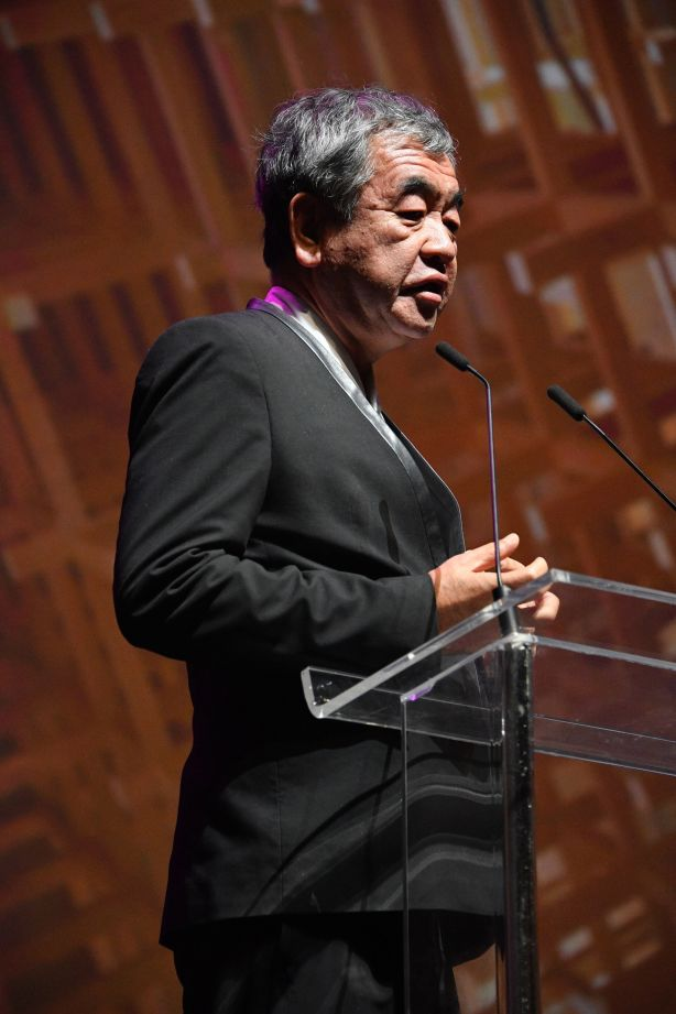 Kengo Kuma at a Sydney event celebrating Mastery by Crown Group NOT FOR REUSE