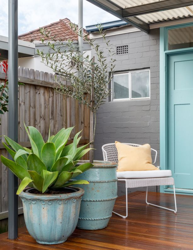 Dulux commercial partnership with Domain - project 4 makeover. Exterior entertaining deck in Earlwood, Sydney.