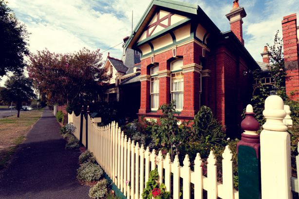 House with white picket fence in Melbourne.