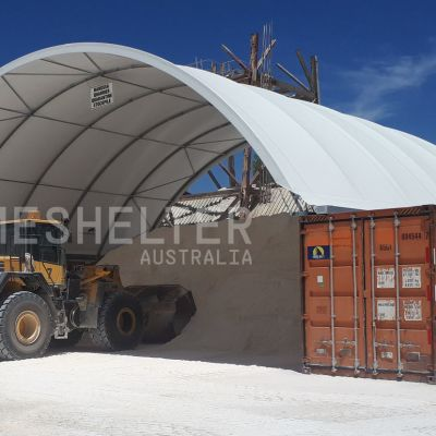 DomeShelter to store building materials.
