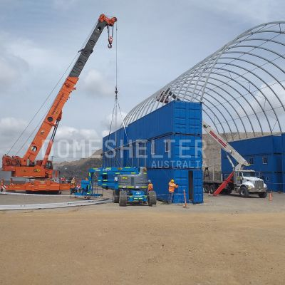 container shelter installation - DomeShelter