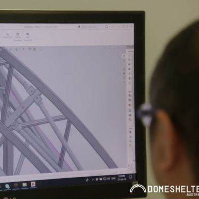Designing a custom DomeShelter for a client.