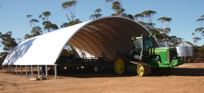 agshelter - agricultural shelter - machinery storage