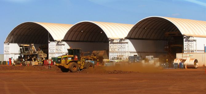 Fabric Structures for mining