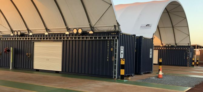 Container Mounted Domeshelter Structure Domeshelter Australia