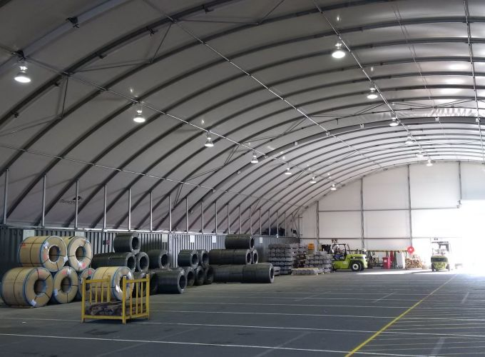 DomeShelter can be used for inexpensive industrial mass storage.