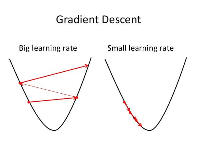 Hình 2: Ảnh hưởng của độ học η