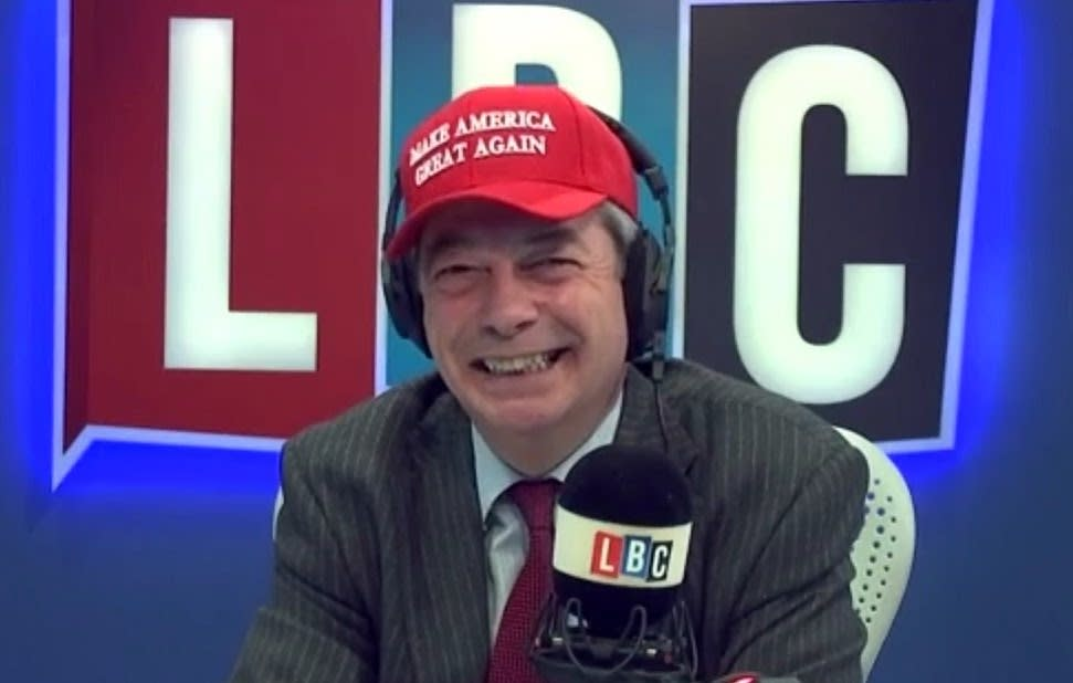 The failed leader of a minority party in a fanboy hat