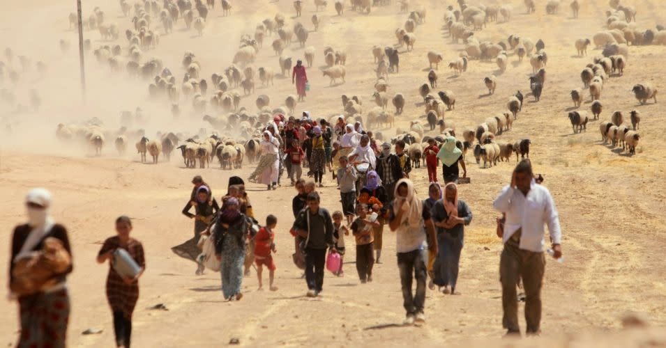 Fleeing from climate change and conflict