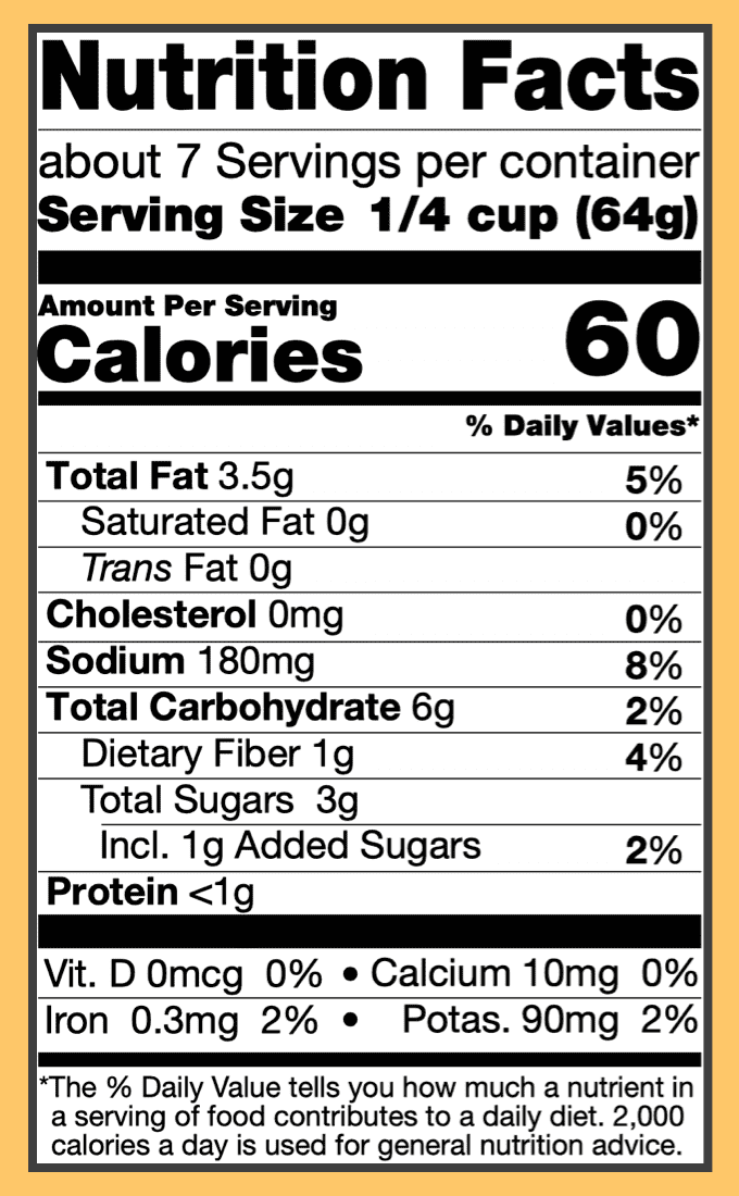 Nutritional dopiaza curry sauce