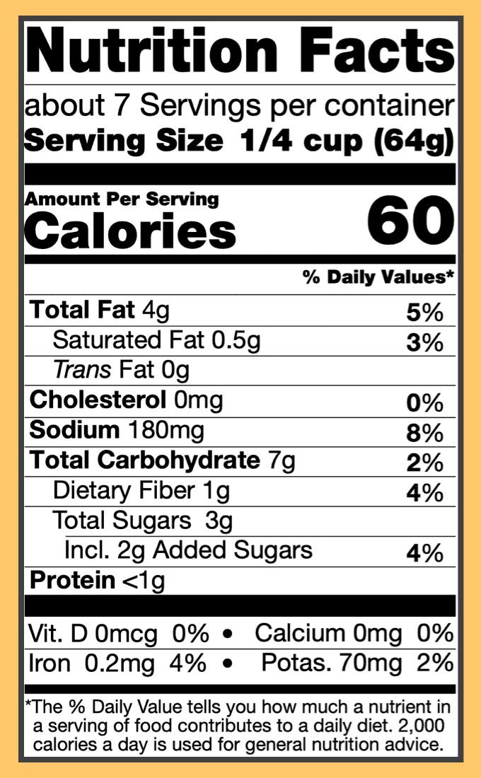 Nutritional jalfrezi curry sauce