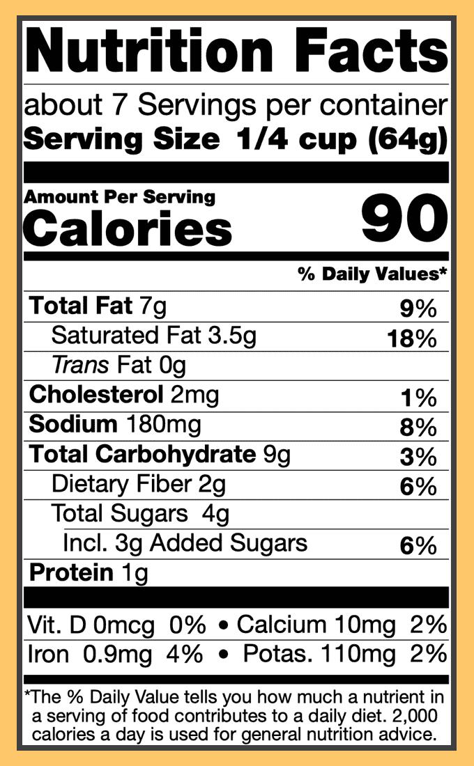 Nutritional korma curry sauce