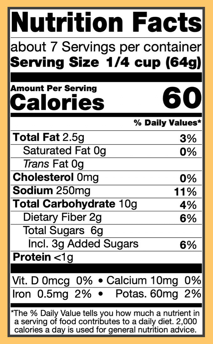 Nutritional mango curry sauce