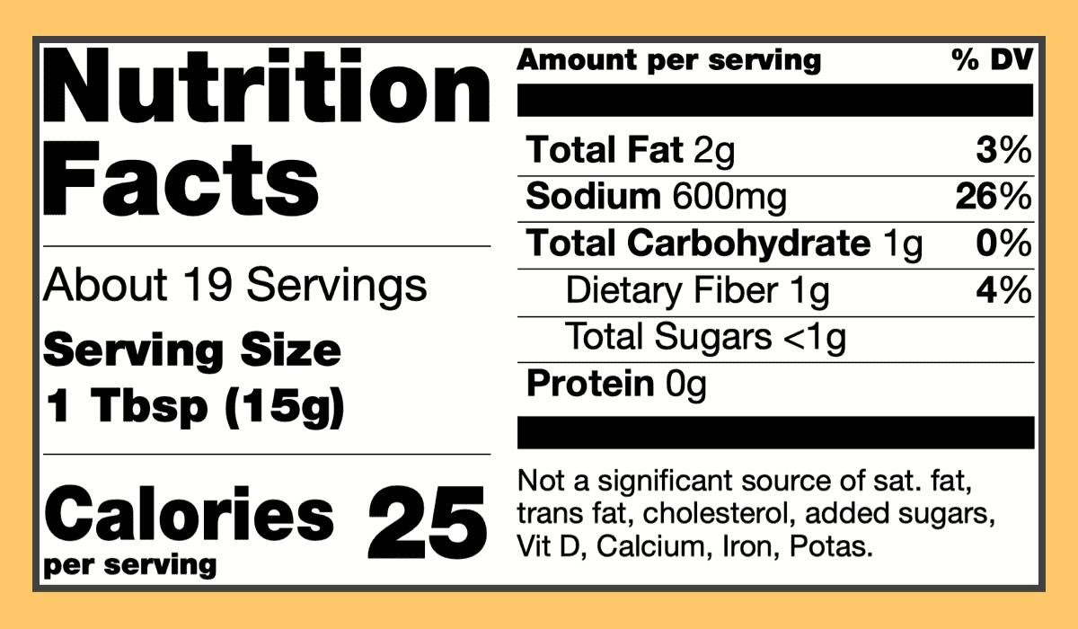 Nutritional mango pickle